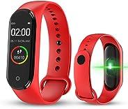 WMFL M4 Fitness Tracker con frequenza cardiaca, Braccialetto da Donna Intelligente IP67 Impermeabile, Touch Screen a Colori