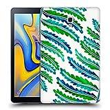 Head Case Designs Officiel Cat Coquillette Modèle De Feuille De Fougère Vert Bleu Tropical Étui Coque en Gel Molle pour Samsung Galaxy Tab A 10.5 (2018)