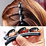 Jeval Twist Hair Clip Fashion Double Layer Hair Clips For Women Magic Ladies Hair Styling Tools Plastic Hair Barrette...