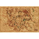 Poster The Legend Of Zelda Breath of the Wild Hyrule World Map - Papier Glacé - 91x61cm