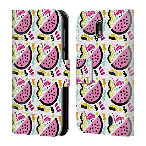 Head Case Designs Offizielle Vasare NAR Wassermelone Der 90er Jahre Nahrungsmittel Brieftasche Handyhülle aus Leder für Nokia 1 (Positionen Der 90er Jahre)