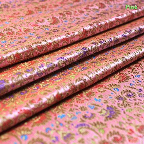 Tela de seda brocada china YOUMU para prendas de 90 cm x 100 cm