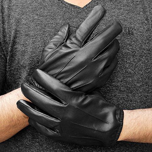 ALPIDEX Guanti invernali in pelle da uomo disponibili in varie taglie
