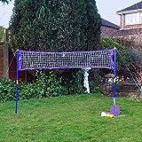 Red de tenis y bádminton para jardín o playa, 2en 1,deportes de raqueta y juegos de pelota.