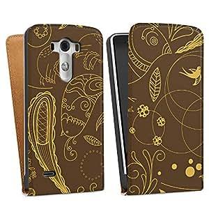 DeinDesign LG G3 Tasche Hülle Flip Case Paisley Muster Gruen Braun Ornamente
