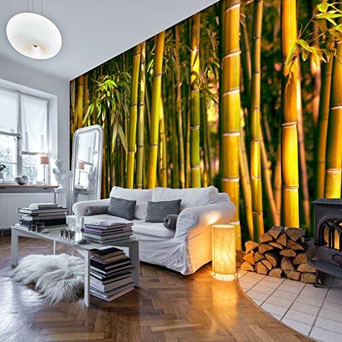 decomonkey | Fototapete Bambus Natur 400x280 cm XXL | Design Tapete | Fototapeten | Tapeten | Wandtapete | moderne Wanddeko | Wand Dekoration Schlafzimmer Wohnzimmer | Bamboo Wald | FOB0050b84XL