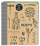 moses. 80623 Cook und Love Rezeptordner DIN A5, Sammelordner mit Klarsichthüllen und Registertaschen, für Rezepte