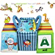 Baby Cloth Book Soft Toy 26pcs Alphabet Cards Educational Tool with Storage Bag for Toddler