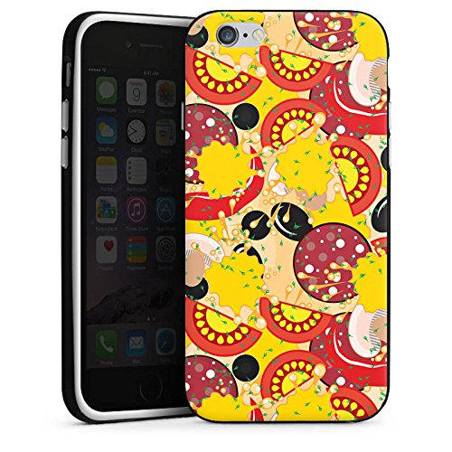 Apple iPhone 4s Silikon Hülle Case Schutzhülle Calzone Pizza Fast Food Silikon Case schwarz / weiß