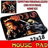 Maus Pad Ronnie James Dio Personalisierte Mauspad mit Foto, Logo. Heavy Metal