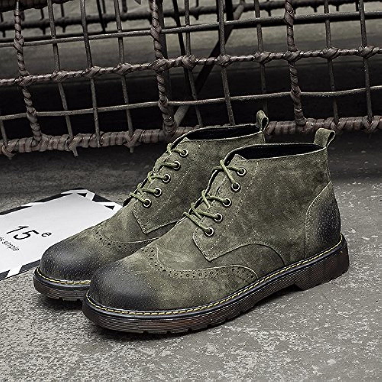 HL-PYL, botas altas botas botas botas botas Retro Martin auxiliar en el Varón.,42,verde