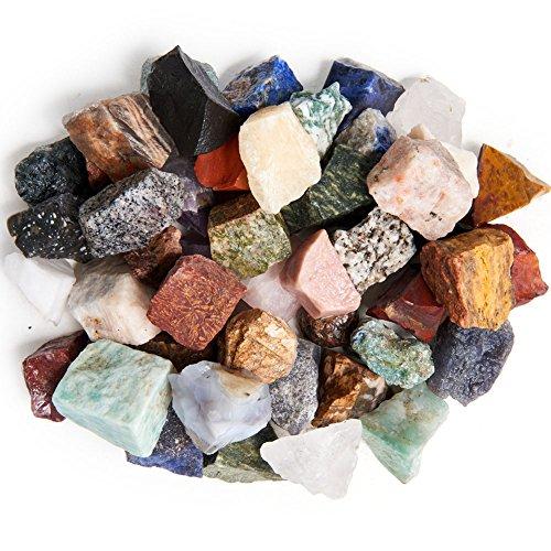 Graben Puppen: 6Lbs natur Asien und nahen Osten Stein Mix–MADE mit über 45Arten von großen Steine–Größe–2,5cm zu 3,8cm durchschnittliche–Raw grobe Rocks für Kunst, Handwerk,, Draht Umwickeln.