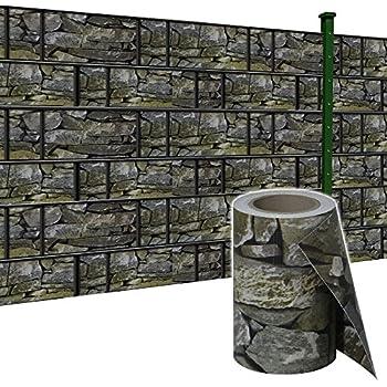 PVC Sichtschutz Streifen Sichtschutzfolie Doppelstabmatten Zaun Rolle bis 65m
