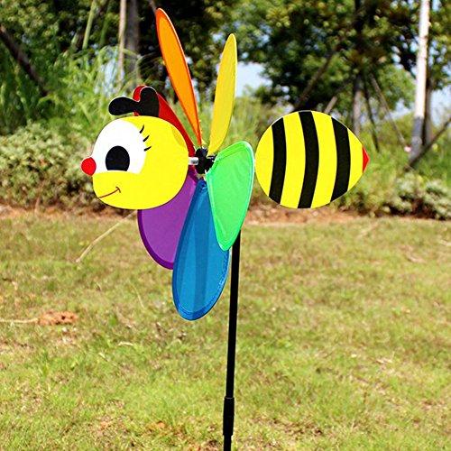 Colorful 3D Tier Großer Bee Form Windmühle Windrad Whirligig Garten Rasen Hof Dekoration #1 Wie abgebildet
