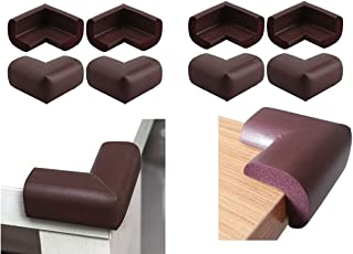 RK's Baby Safety Furniture Edge Cushion Corner cover Foam Guard with tape Infant Bump Protector (8 Unit Brown) (Corner Guard Foam 8 pcs).Can be used a safety edge guard , table edge safety guard , safety corners for kids , baby safety product , baby safety corner guards ,safety corners for kids , furniture safety corners , safety corners for kids , kids safety products ,glass edge protector , corner guard , corner guard edge , corner edge cushions guard ,Sponge Corners Table Corner Safe.