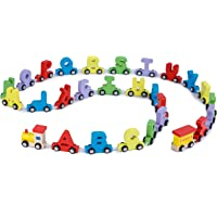 Webby Wooden Educational Alphabets Train Toy, 27Pcs