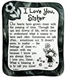 """Sculpted Magnet: I Love You Sister, 3.0"""" x 3.5"""""""