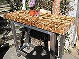 natural mente–Designer mesa mesa de bar, mostrador, Bistro Mesa, la industria Look, pie mesa, mesa, Antiguo, estilo rústico, 130cm x 46,5cm, altura 110cm