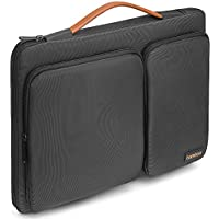 Tomtoc 360 ° Funda protectora para portátil para 14 Inch Levovo ThinkPad | Dell HP Acer ASUS Chromebooks | 15 Inch New MacBook Pro with Touch Bar (A1707)| Tablet, Negro