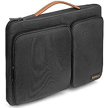 "Tomtoc 360 ° Funda protectora para portátil para nueva MacBook Air de 13-13,3 pulgadas | MacBook Pro Retina 2012-2015 |13,5 Inch Surface Laptop | 13"" HP Acer Toshiba ThinkPad Chromebook | Tablet , negro"