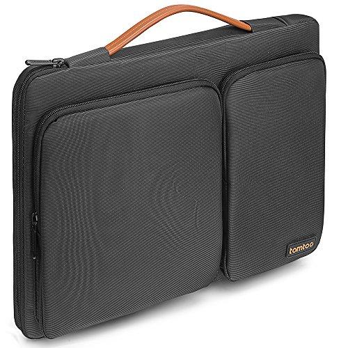 Tomtoc Housse de Protection à 360 ° pour Ordinateur Portable 13.3 Pouces MacBook Air | 13 Pouces MacBook Pro Retina A1502/A1425 | 12,9 iPad Pro |13.5 Pouces Surface Laptop, Sacoche Homme, Noir