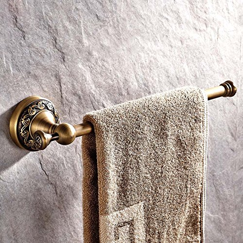 auswind Antik Messing Single Handtuch Bar, Wand montiert 30cm Kupfer geschnitzt Badezimmer Handtuch Rack -