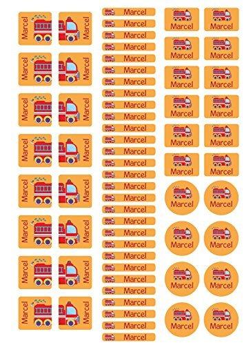 Mein Zwergenland Stickerbogen mit Schuhaufkleber für Den Kindergarten mit Namen Feuerwehr