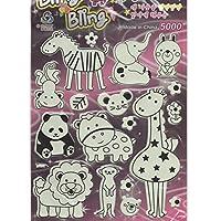 by soljo 3D Glow in Dark Animal Africa elephant Giraffe cute colorful sticker decal 1 sheet Dimensions: 25 cm x 20 cm Scrappingbook Kids Craft