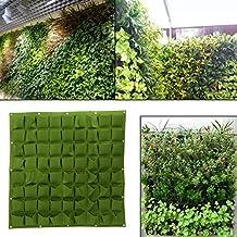 72 Bolsas Bolsas para plantar Colgante de pared Jardinera Jardinería Exterior Interior Vertical Greening Grow Bolsos ( Color : Verde )