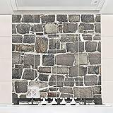 Bilderwelten Fliesenbild - Bruchsteintapete Natursteinwand - Fliesensticker Set, Fliesengröße: 15 cm x 15 cm, Größe HxB: 60cm x 60cm