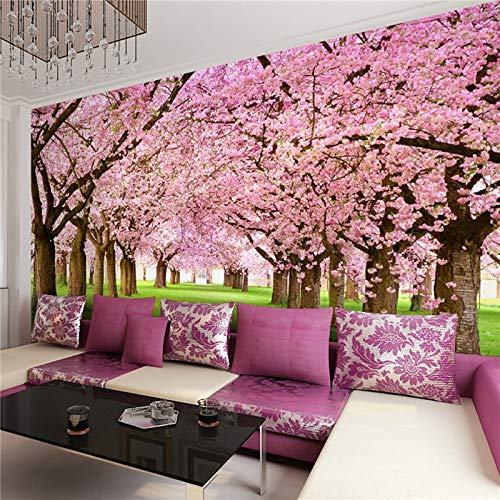ZKADGL Blumentapete Zeitgenössische Wandverkleidung, Andere Peach Cherry Wallpaper Murals,180×270 -