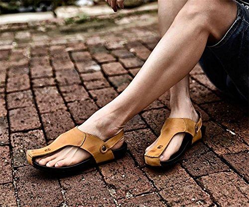 WXR Herren Atmungsaktiv Freizeit Schuh Rutschfest Strand Sandalen yellow brown