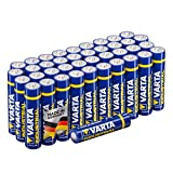 Varta Industrial Batterie AAA Micor Alkaline Batterien LR03 - 40er Pack, Made in Germany, umweltschonende Verpackung