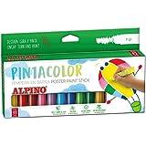 Alpino PX000012 - Témpera sólida, 12 unidades, multicolor, Única