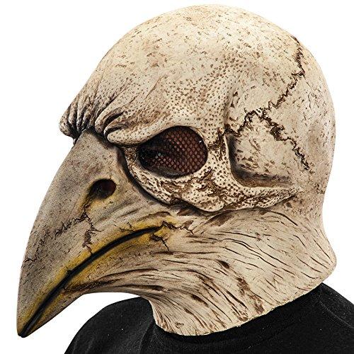 Carnival Toys - Máscara de látex esqueleto de águila con encabezado, multicolor (1431)