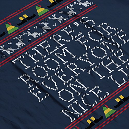Nice List Elf Quote Christmas Knit Men's Vest Navy Blue