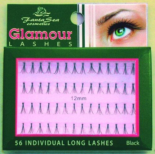 Fantasea Cils Glamour - 56 cils individuels longs et noirs
