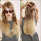 Superwigy® 70cm Blonde Ombre Wig Long Straight Cheap Women Synthetic Wig Fashion Natural Hair Women's Brown Wigs For White Women