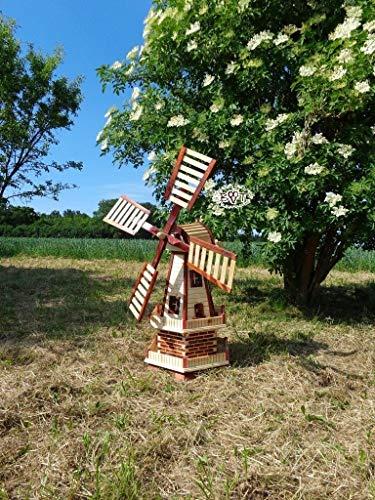 Gartenwindmühle 130 cm, zweistöckig - 3