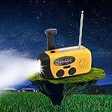 GHB Radio portátil digital AM/FM con Solar LED linterna Banco de Energía/Power Bank USB Función de Dynamo Multifunción para Caza,camping, pesca,Trabajo al aire libre etc