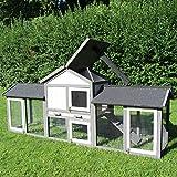 sù-xxl coineanach Barn Picasso Rabbit Barn Rabbit House Barn Animal Beag - Grey / White