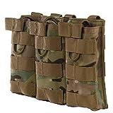 zdmathe Tactical MOLLE Triple Stacker mit Mag Pouch Magazintasche MOLLE-Aufnahmepunkten Mag Halter, CP