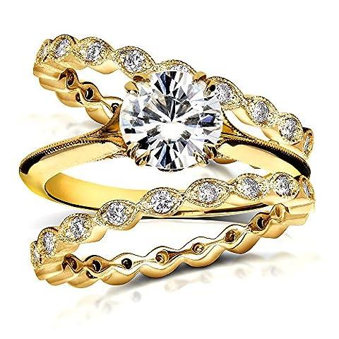 Vintage Forever mariée brillant et diamant en or 9Lot de