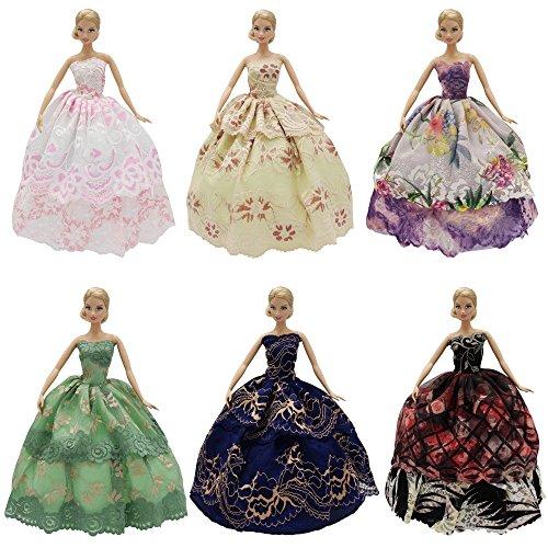 Schönes Party Puppen Kleid Lila Schwarz Länge 30 Cm Lang Schnelle WäRmeableitung Puppen & Zubehör Kleidung & Accessoires