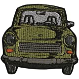 AUFNÄHER - Oldtimer Car - N-OSTALGIE DDR TRABI - 04706 - Gr. ca. 6 x 7 cm - Patches Stick Applikation