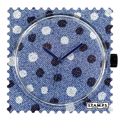 S.T.A.M.P.S. Stamps Uhr Zifferblatt Jeans Dots 105396