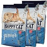 3 x 10 kg Happy Cat Katzenfutter Supreme Junior