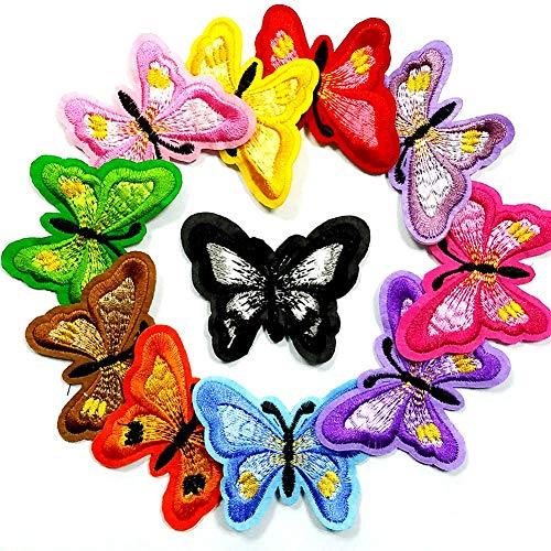fällig Patches Zubehör Aufbuegler Bügeleisen-auf oder Nähen-auf Aufnäher Applikation Applique Flicken Patches (11 Stück Schmetterling) ()