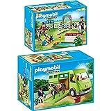 PLAYMOBIL® Country 2er Set 6928 6930 Pferdetransporter + Reitturnier
