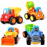 Early Education 18 Month+ Old Baby Toy Push and Go Friction Powered Car Toys Sets for Children Kids Boys Girls